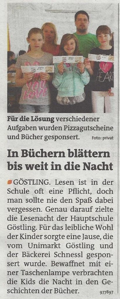 Lesenacht Bezirksblätter