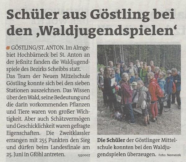 Bezirksblätter Waldjugendspiele
