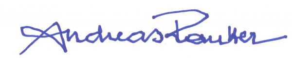 Unterschrift Andreas