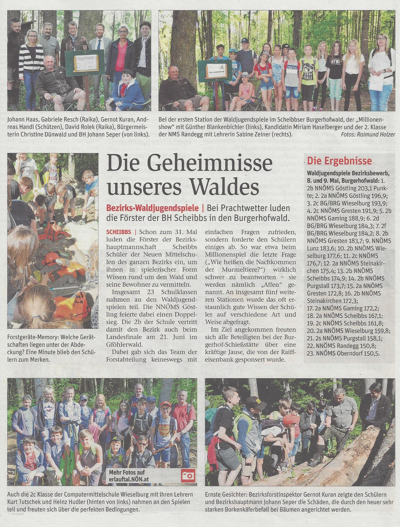 Waldjugendspiele NÖN 20 2018