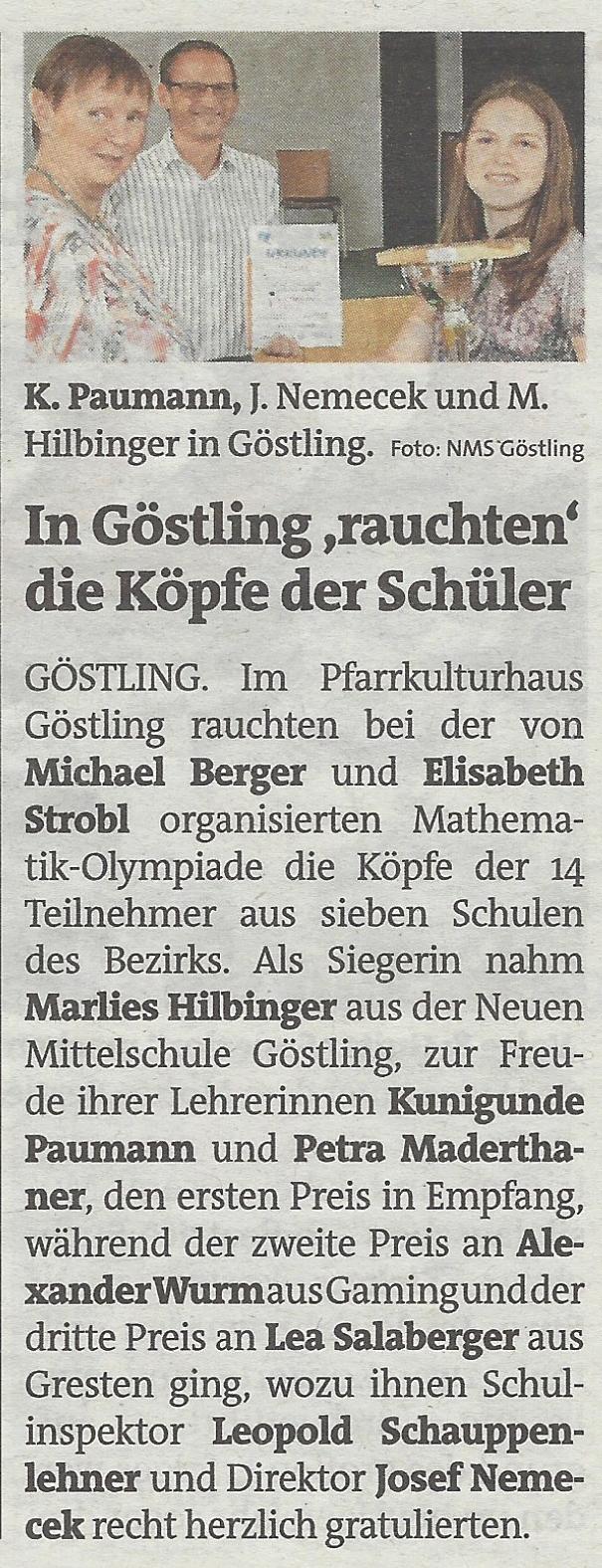 M Olympiade 2018 Bezirksblätter